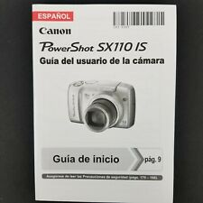 Canon PowerShot SX110 IS Camera Instruction Manual / User Guide Spanish Espanol