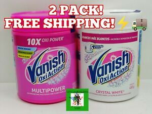 VANISH OXI ACTION Crystal White & Multipower Fabric Stain Remove 2 PACK 450g⚡🚚