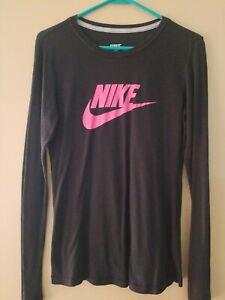 Nike Women's Lightweight Crew Neck Long Sleeve Training Top-  MED