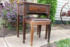 Barn Find Antique Singer Sewing Machine 99K chair cabinet & manuals