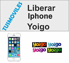 Unlock Libera Liberar Iphone Yoigo 4 4S 5 5S 5C 6 6 Plus 3GS 3 todos