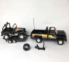 Lot of 1970s Tonka BFGoodrich Truck Jeep Trailer Tire Jack Pressed Metal Bundle