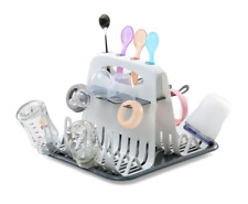 Baby Bottle Drying Rack Infant Counter top Dryer Clean Bottles Drainer GREY UK