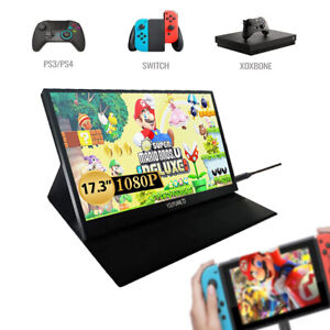 15.6''/17.3'' Portable Monitor USB-C IPS Display Screen FHD for Laptop Phone PS4