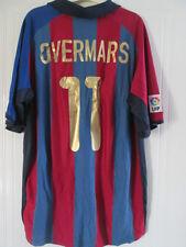 Barcelona Overmars 11 Home Football Shirt Size XXL /37968