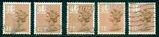 Great Britain Wales Sg-W38, Scott # Wmmh-21a Used, 5 Stamps, Great Price