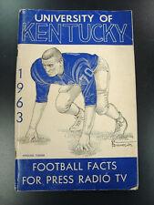 1963 UK Kentucky Wildcats Football Media Guide Charley Bradshaw