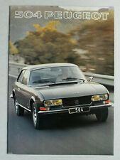 Prospekt Peugeot 504 Cabriolet V6 und Coupé V6, 1977, 16 Seiten