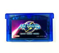 Metroid Fusion with Hard Mode for GBA Nintendo Game Boy Advance custom cartridge