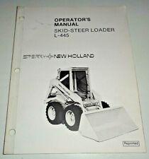 New Holland L 445 Skid Steer Loader Operators Owners Manual Oem Nh 482