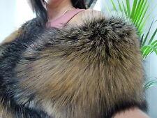 Real Gold Fox Fur stole,wrap,scarf, Boa size XL