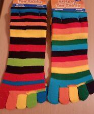 SALE Stripey Toe Socks - Plain or Sparkly - One Size Stretch Fit  - UK SELLER