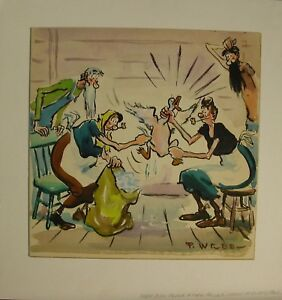 Original Comic illustration Paul Webb Mountain Boys Maw Pluckin Duck For Pillow