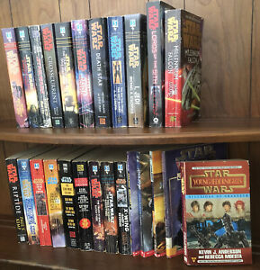 Star Wars Books Lot 25 Mixed Paperbacks by Kemp, Lucas, Perry, Tyers, Stackpole…