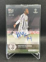Weston McKennie On Card Auto - Topps Now Champions League #33/49- Juventus USMNT