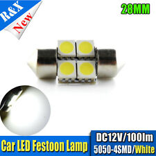 2 X 28MM 5050 3SMD LED 239 272 C5W INTERIOR LIGHT FESTOON BULB WHITE DC12V 100LM