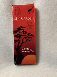 Zen Garden with Rake, Sand, Rocks, and Tray