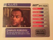 Charles Robinson #23 Allies - 007 James Bond Spy Files Card