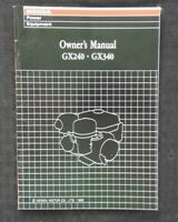 GENUINE HONDA GX240 & GX340 ENGINE OPERATORS OWNER'S MANUAL VERY NICE
