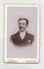 CDV Carte de visite Homme J. LAPORTE Vitry Le François Vers 1900 Vintage