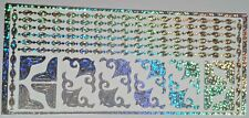 Sheet Silver Holographic Corners Frames Line Chain Stickers Craft Peel Off 713h2