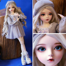 Full Set 60cm BJD Doll 1/3 Fashion Girl + Replaceable Eyes Wigs Sweater Clothes