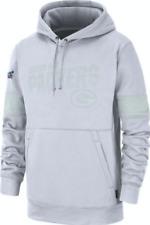 Para Hombres Marca De Trabajo Blanco Green Bay Packers Suéter Sudadera con capucha de la NFL Football