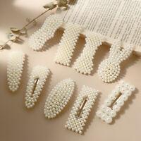 Accessories Imitation Pearl Hair Clip Snap Barrettes Stick Hairgrip BB Hairpins