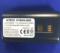 Hitech USA For Datalogic/PSC P/N.:94ACC1302,700175303(Japan Liion2.6Ah)KYMAN...