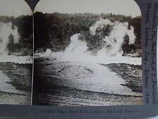 WW1 HUGE SHELL HOLE BESIDE A HIGHWAY, FRANCE! KEYSTONE STEREOVIEW CARD WWI WAR