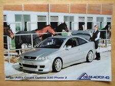 OPEL Astra Coupe Optima 230 Phase 2 brochure by Delta Motor AG - c2003 Vauxhall
