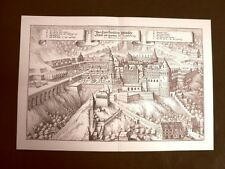 Castello di Heidelberg Germania Incisione Merian Matthäus del 1640 Ristampa