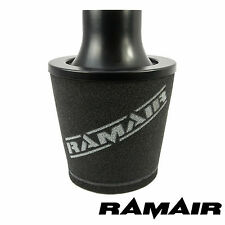 RAMAIR UNIVERSAL FOAM AIR FILTER with 70mm OD NECK ALUMINIUM INTAKE BLACK