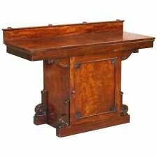 WILLIAM IV CIRCA 1830 CUBAN MAHOGANY ORNATELY CARED SIDEBOARD WINE CELLAR