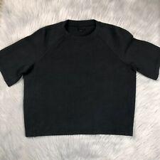 Lululemon Womens NTS Cropped Short Sleeve Top Black