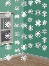 6 7ft Frozen Snowflake Foil Hanging String Decorations Xmas Party Winter Window