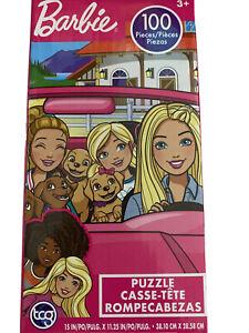 Barbie Puzzle 3+ tcgtoys Sure Lox 100 Piece Puppies Friends Pink Sports Car