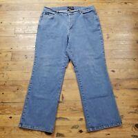Izod Blue Jeans Woman Straight  Leg Women's Plus Size 18W Stretch Denim 38 x 29