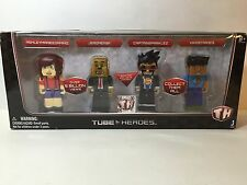 Tube Heroes MINECRAFT Gamers 4 Figures Toy NIB Exclusive CaptainSaparklez