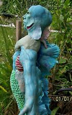 ooak merman mermaid doll by Lorilyn collectible made in polymer clay, detailed