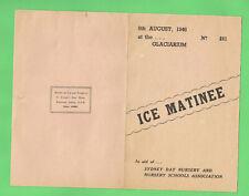 #D29. 1946 Ice Skating Program - Glaciarium, Railway Square, Sydney