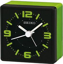 Seiko Qhe091m Verde Analogico comodino Orologio elettronico di Allarme Acustico