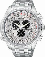 New Citizen Men's Eco-Drive Silver Dial Chronograph Watch BL5400-52A