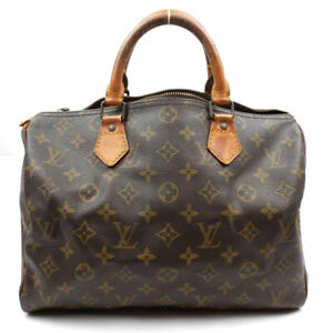 LOUIS VUITTON Speedy 30 Boston Bag Handbag Monogram Brown M41526