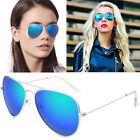 Men & Women Vintage Retro Aviator Sunglasses Mirrored Polarized Lens Metal Frame