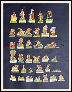 ⭐ Biancaneve Disney Rex Galbani - serie cpl 34 figurine - 1940 - DISNEYANA.IT ⭐