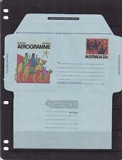 Australia 33c Christmas Aerogramme unused VGC