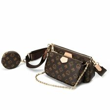 Women print bag crossbody shoulder 3 in 1 luxury handbag PU leather Purse