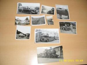 TRANSPORT - VINTAGE CARS, TRAIN,  PLANE,BUS ETC  - COLLECTION  OLD PHOTOGRAPHS