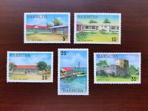 (5) Barbuda 1974 Scott #175, 178-181 (Short 176 & 177)  Definitives Set Mint NH